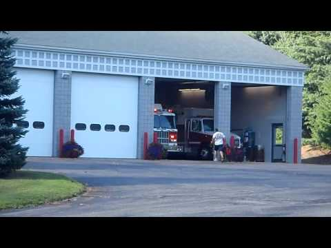 Bantam Volunteer Fire Company Engine 6 Responding To An MVA In HD