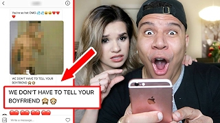 READING MY GIRLFRIEND'S INSTAGRAM DMs! (CAUGHT TALKING TO EX)