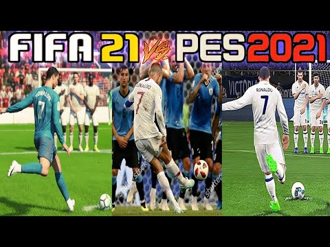 PES 2016 VS FIFA 16 - UMA ANALISE NOOB! (CR7 FREE KICK ) 60FPS