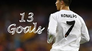 Cristiano Ronaldo ● All 13 Goals vs Barcelona With Commentary ● HD