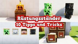 10 Tipps und Tricks für Rüstungsständer in Minecraft | Minecraft Rüstungsständer Tipps und Tricks