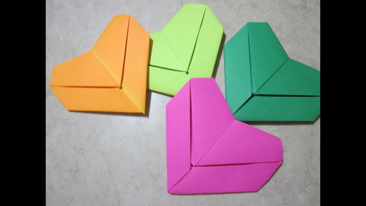 Wedding DIY Tutorial Origami Heart Decorations  Place Cards