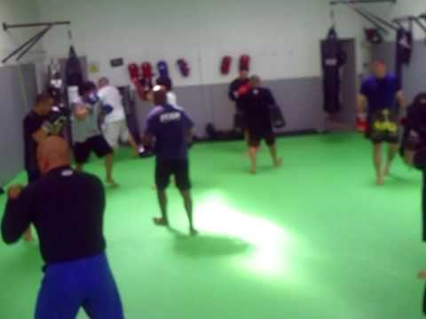 MMA Fighter Training @ FTCC Hybrid Thai Pad Combo Drills - James Cook Image 1