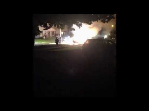 Angry Wife Burns Cheating Husbands Car!!! Blast Almost Burns Firefighters! video