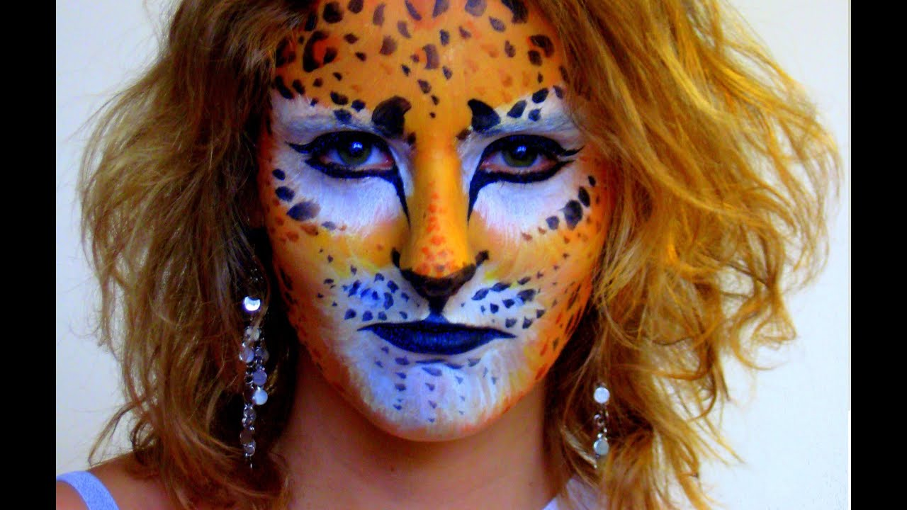 Easy cheetah face paint for kids - photo#26