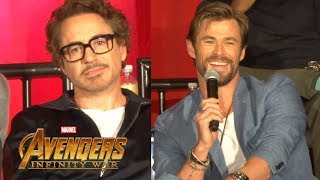 """Avengers: Infinity War"" FULL press conference with cast, creative team, and host Jeff Goldblum"