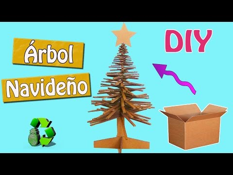 128. DIY ARBOL DE NAVIDAD (RECICLAJE DE CARTON)