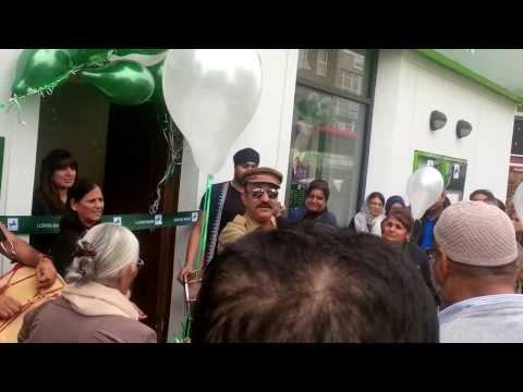 Lloyds Bank Southall Branch re-opening after the split from TSB...but in true Punjabi style..