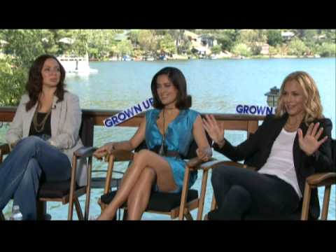Interview with Grown Ups gals Maya Rudolph, Salma Hayek, Maria Bello.mov