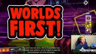 DESTINY 2 FORSAKEN - WORLD'S FIRST 'LAST WISH' RAID *REACTION*