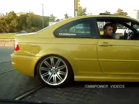 BMW E46 M3 Three Cool Video (Laguna Seca Blue , Silver Grey Metallic , Phoenix Yellow) The Kayseri City MMPower BMW Team Activity Day. Mod's : (Yellow M3 Exhaust By SuperSprint Racing System,...