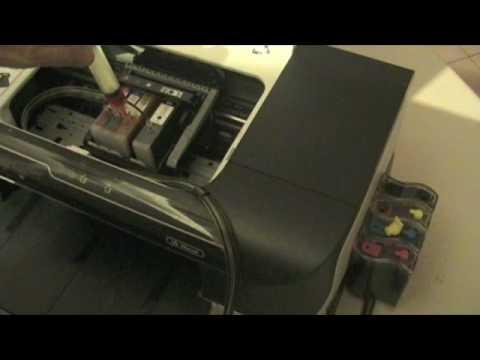HP Officejet 6000 (sacar aire de la manguera)