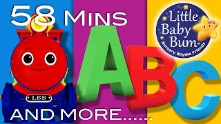 ABC Train | Plus Lots More Nursery Rhymes | 58 Minutes Compilation from LittleBabyBum!