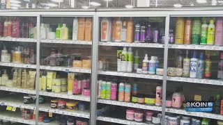 Fred Meyer locks 'multi-cultural' hair products in case