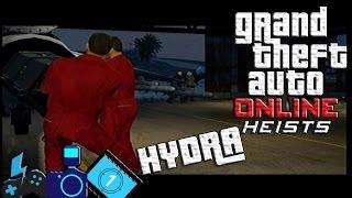 GTA V | ATRACOS ONLINE | ROBANDO EL HYDRA | ¡PINCHES JETS WEY!
