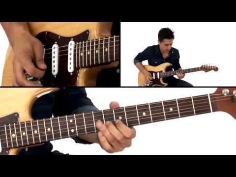 Stevie Ray Vaughan Guitar Lesson - Texas Blues Solo Breakdown - Corey Congilio