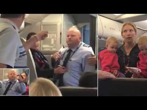 American Airlines Flight Attendant Hits Mother & Baby With Stroller While She Holds Her Twin Babies