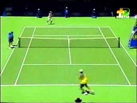 Pete Sampras great shots selection against Dominik Hrbaty (Australian Open 1997 4R)