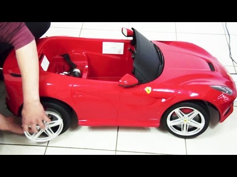 Kids Ferrari F12 Berlinetta Remote Control Ride On Toy Car Unboxing DIY