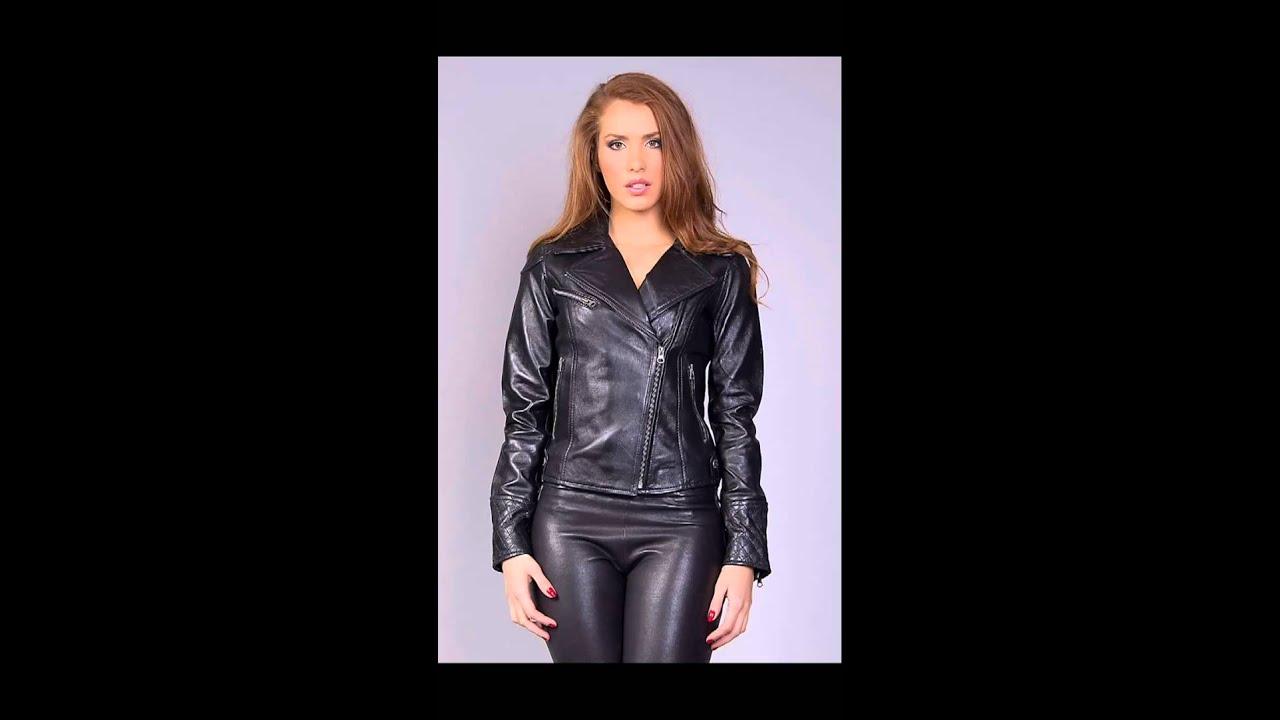 veste en cuir femme tendance et chic youtube. Black Bedroom Furniture Sets. Home Design Ideas