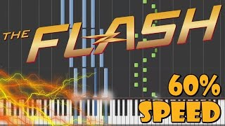 The Flash - Main Theme Piano Tutorial [60% Speed]