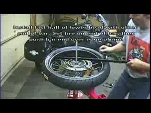 manual tyre changer instructions
