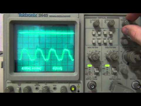 tektronix 2445 intermittent horizontal offset problem[SOLVED]