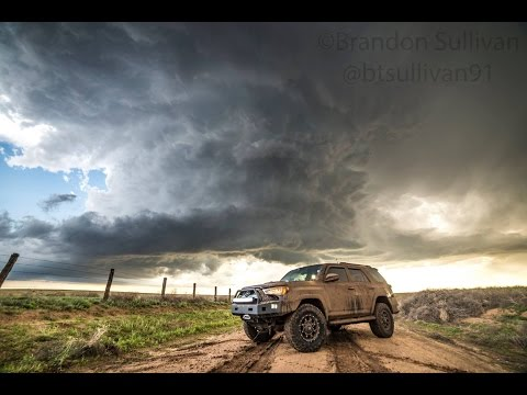 Brandon Sullivan LIVE Storm Chase - Northern Oklahoma - May 24th, 2016