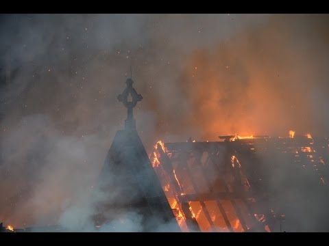 NYC 4 Alarm Fire 5/1/16 @ Serbian Orthodox Church of St Sava