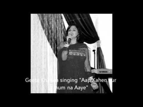 Aap kahein aur hum na aayein : cover by Geeta Khanna