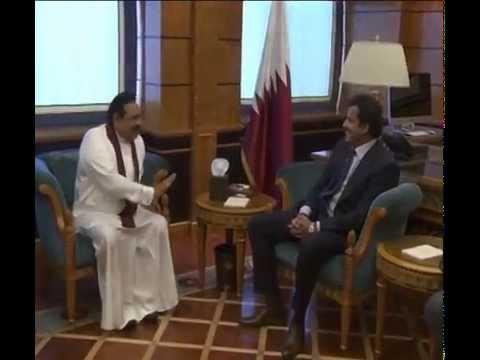 President Rajapaksa and Emir of Qatar Hold Talks