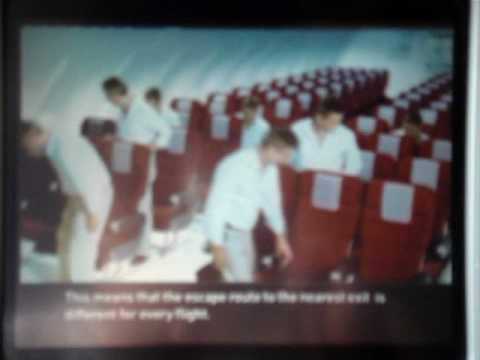 Qantas A330-303 Safety Video with Chinese From Sydney to Hong Kong