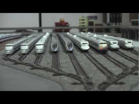 N��� �幹�0系走���� �座������ �����0系�走��������������������� N-gauge BulletTrain Series 0 Shinkansen.