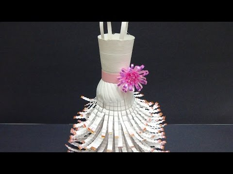 Recycled Crafts Ideas Wedding Dress Out Of Plastic