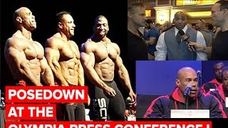 Posedown at the Olympia Press Conference! Wrap-Up Video w/Dave & Chris feat Dennis James