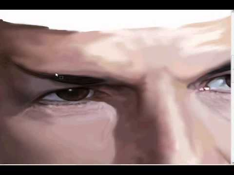 leonard nimoy- spock-speed painting