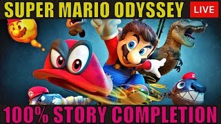 🔴 [1080P 60] SUPER MARIO ODYSSEY GAMEPLAY WALKTHROUGH - NINTENDO SWITCH - 100% Completion  🔴