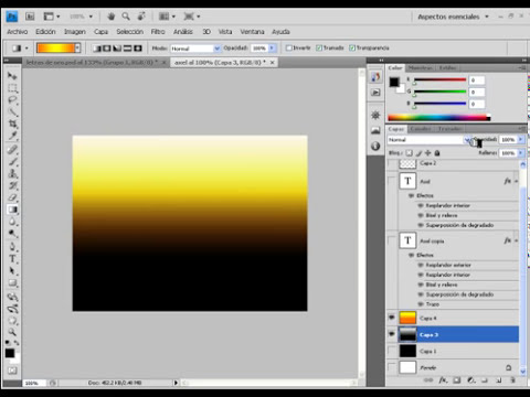 tutoriales photoshop: efecto texto de oro