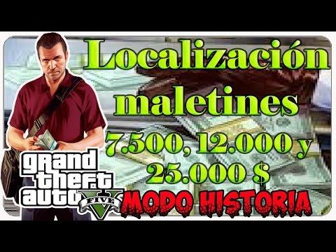GTA V Trucos dinero fácil y rápido localización maletines 7.500, 12.000 y 25.000 $