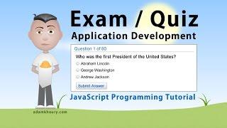 Exam Application Programming Tutorial JavaScript Quiz Online Test