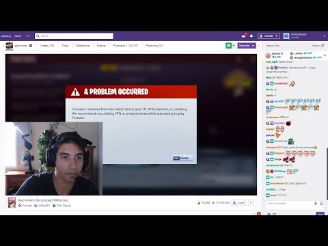 Getting Twitch Streamer almost  BANNED for HACKING skins in Fortnite