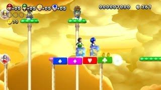 New Super Mario Bros. U -- Boost Mode Ice Fun in Lemmy's Swingback Castle and Dry Desert Mushrooms