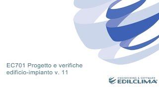 EC701 Progetto e verifiche edificio-impianto