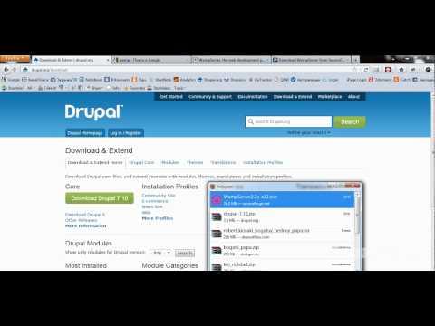 Видеоурок - Установка Drupal 7