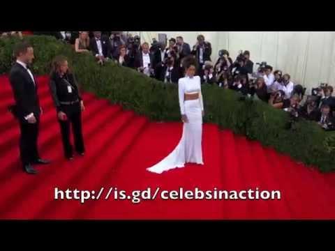 Rihanna Arriving At 2014 MET GALA In Stunning Stella McCartney Dress
