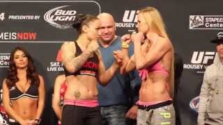 UFC 184 Holly Holm vs. Raquel Pennington Co-Main Event Weigh-In