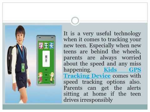 Kids GPS Tracking Device to Track Your Child