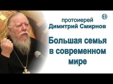 Протоиерей Димитрий Смирнов. Большая семья в современном мире