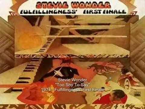 Stevie Wonder - Too Shy To Say
