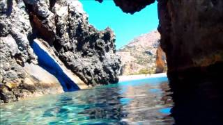 Walking and snorkeling in south Crete Greece